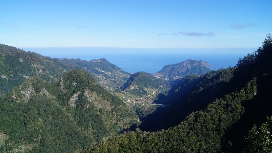 summer Madeira aerial View
