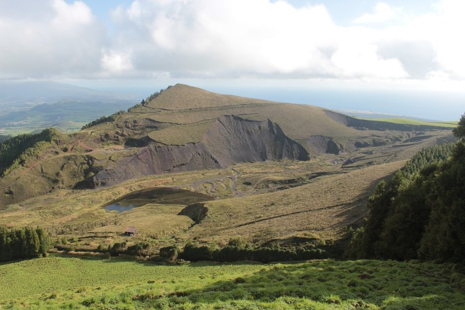 panorama of mountains in the Azores