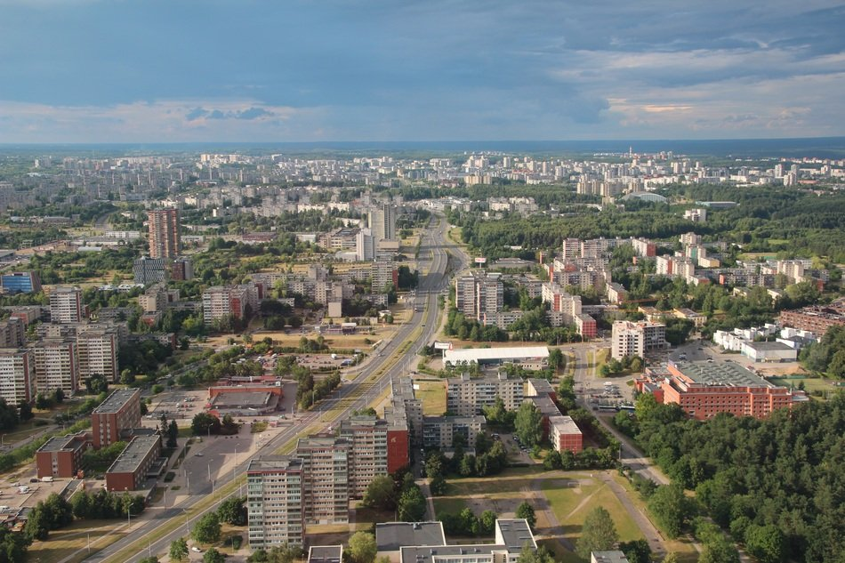 panorama of Vilnius city in Eastern Europe