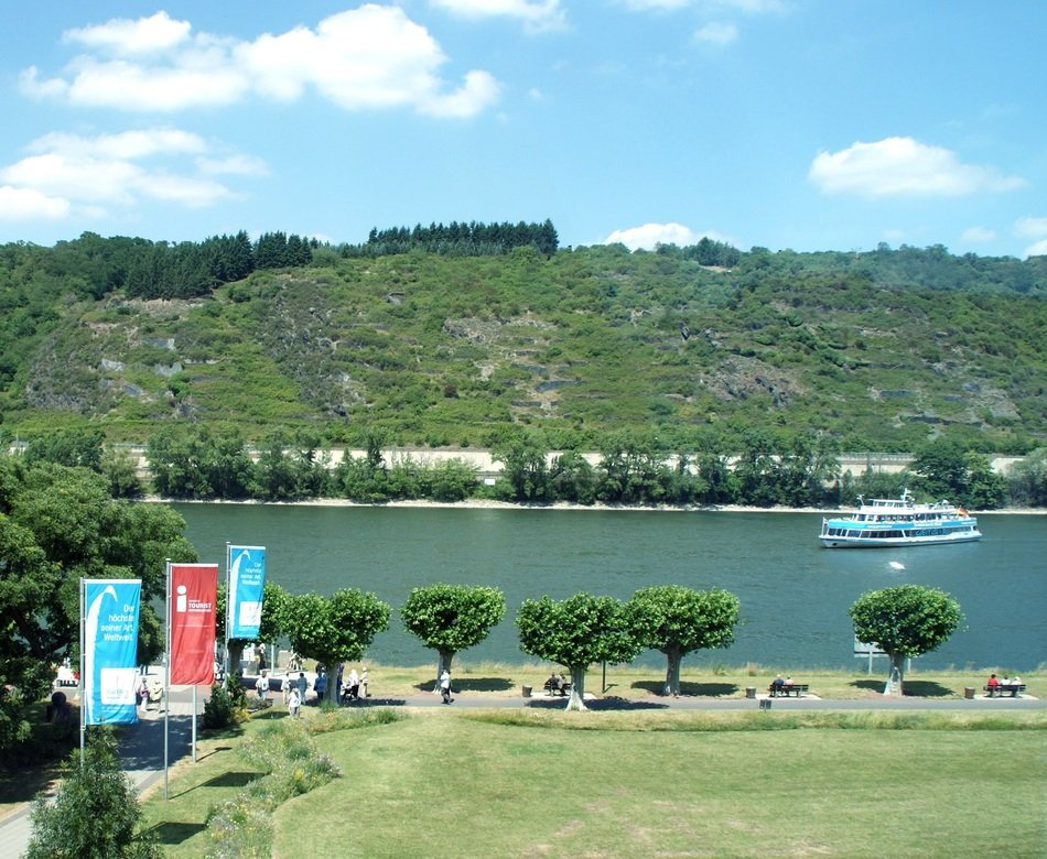 panoramic view of the Rhine in Andernach