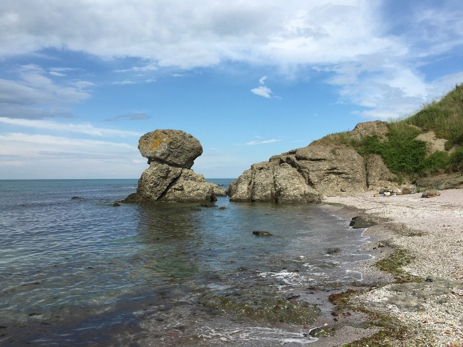big stones on the Black Sea coast