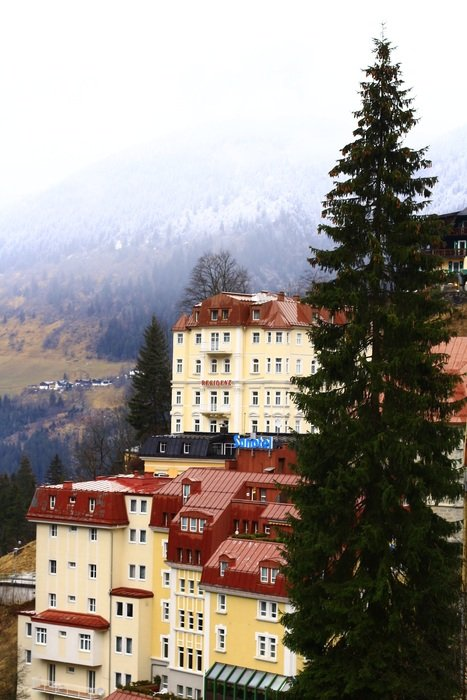 Houses on alps in Gastein