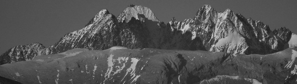 High Tatras in black and white image