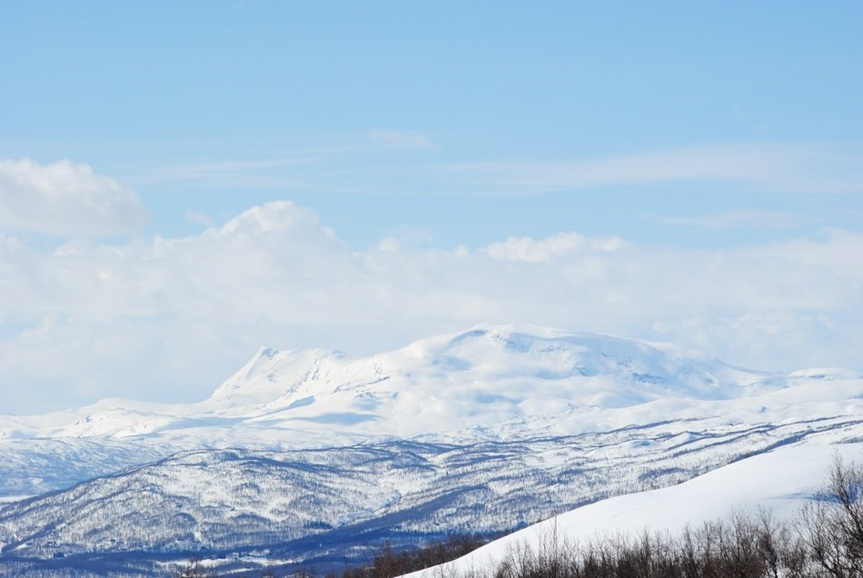Winter Swedish Mountain panorama