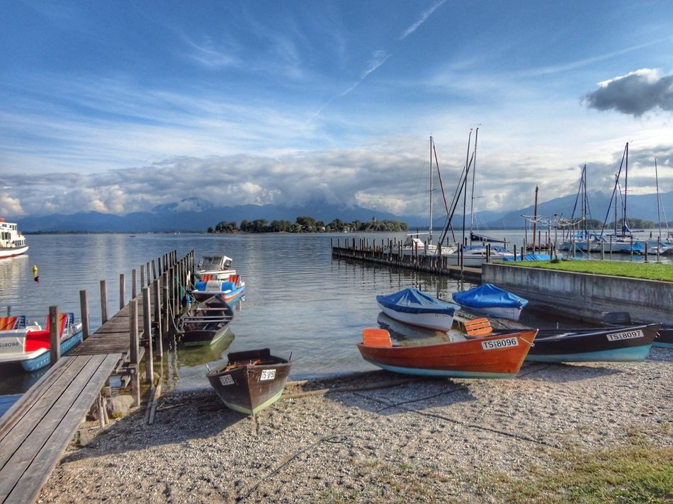 boats on a lake in Bavaria