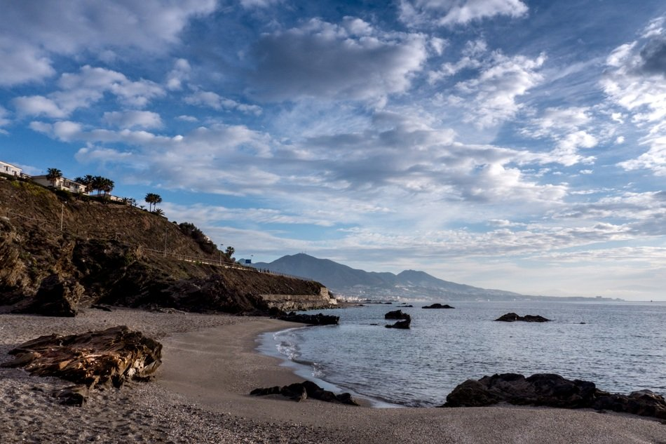 panorama of the coastline of the municipality of Mijas in spain
