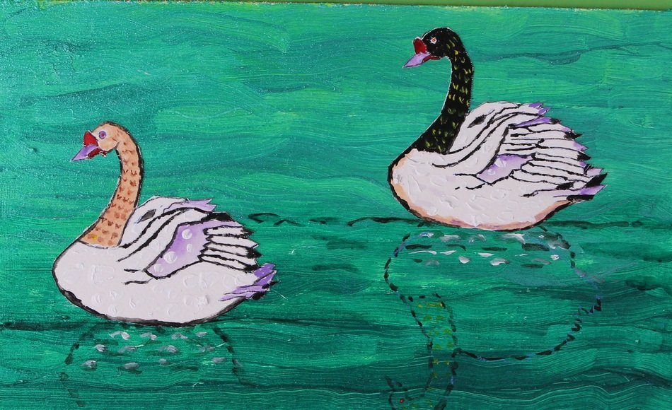 Swans drawing