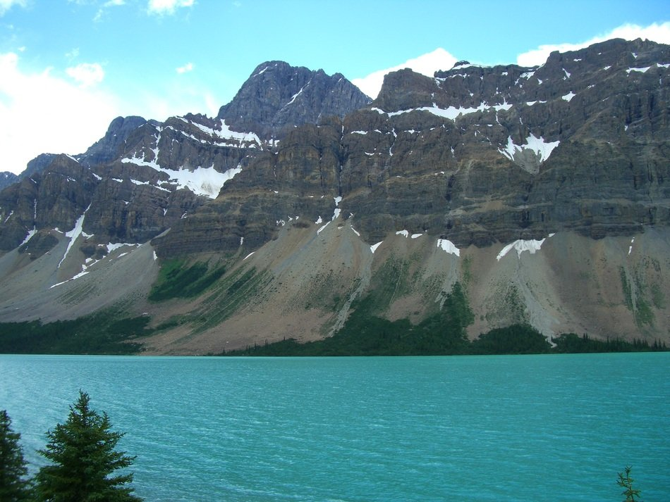 Scenic landscape with the mountain in Canada