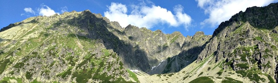 panoramic view of the tatras in Poland