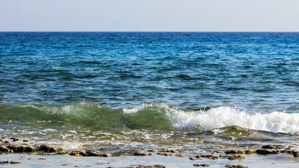 waves near the coast in cyprus