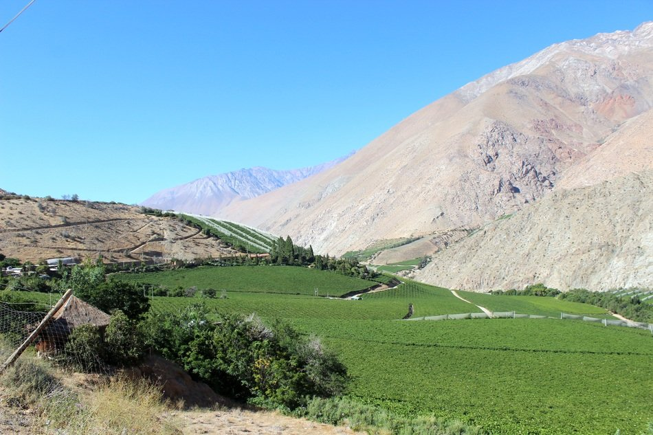 panoramic view of mountains in chile on a sunny day