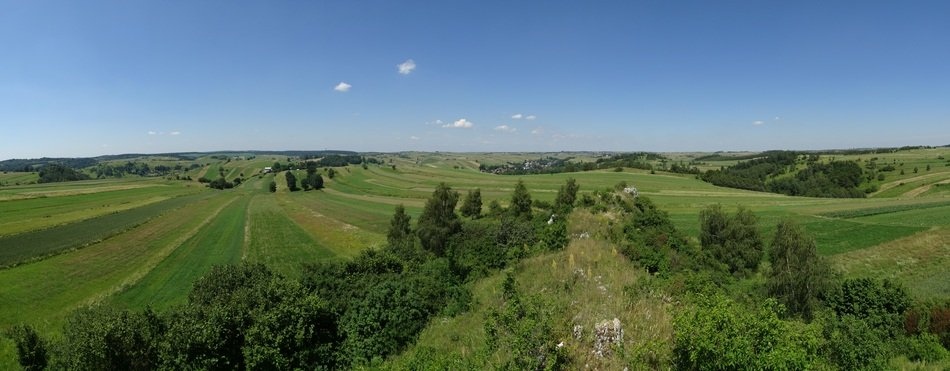 panoramic view of farmland in poland