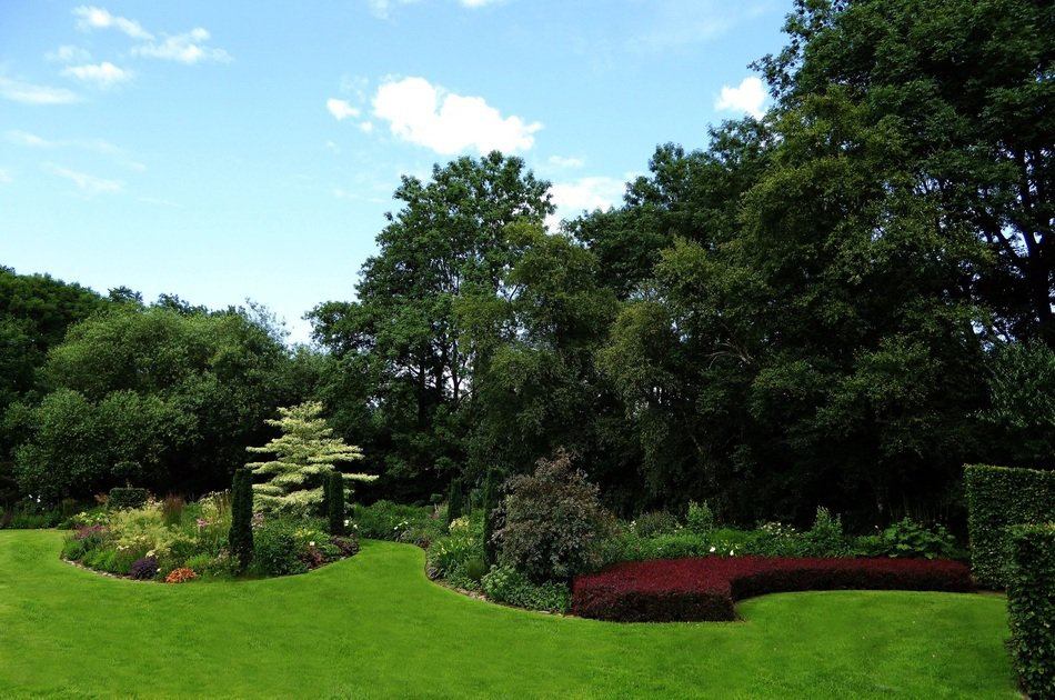 Ornamental Garden at spring