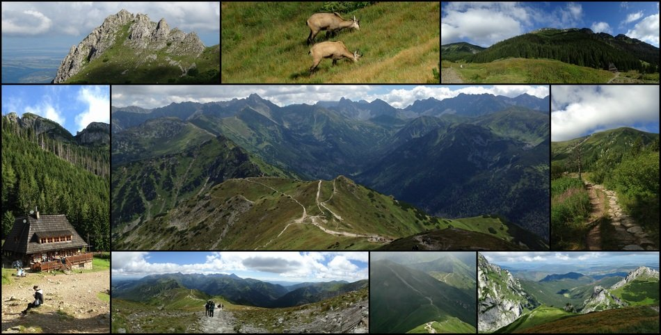 Collage Tatry Mountains nature views
