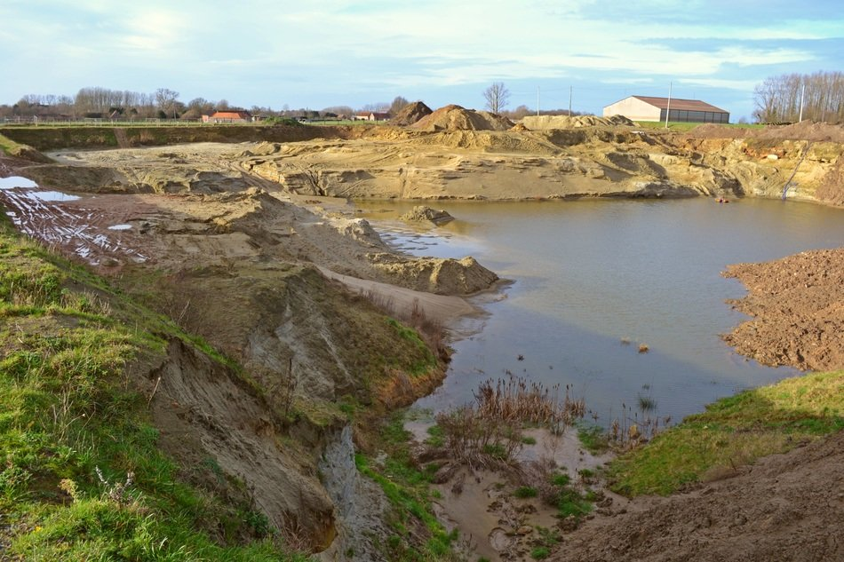 Landscape of Sand Extraction