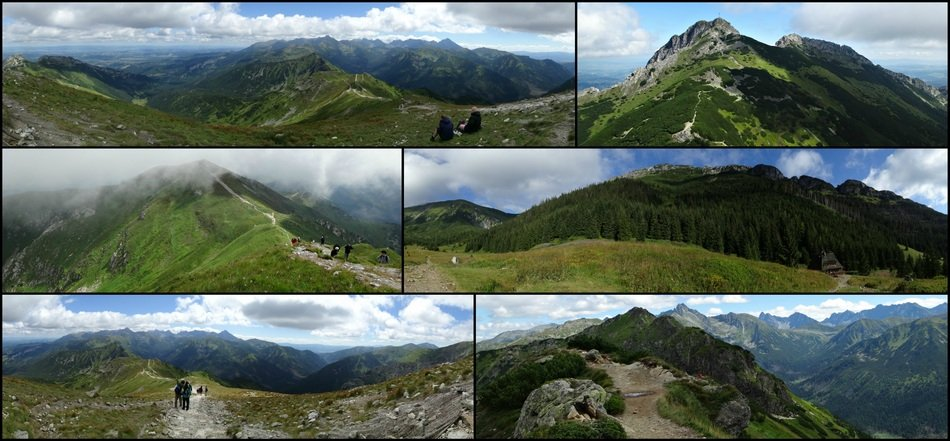 Tatry mountains collage