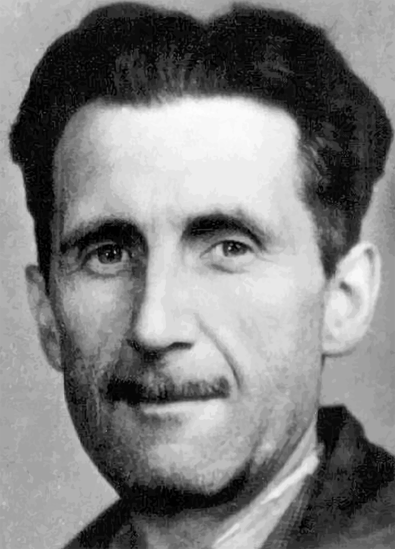 Black and white photo of George Orwell free image