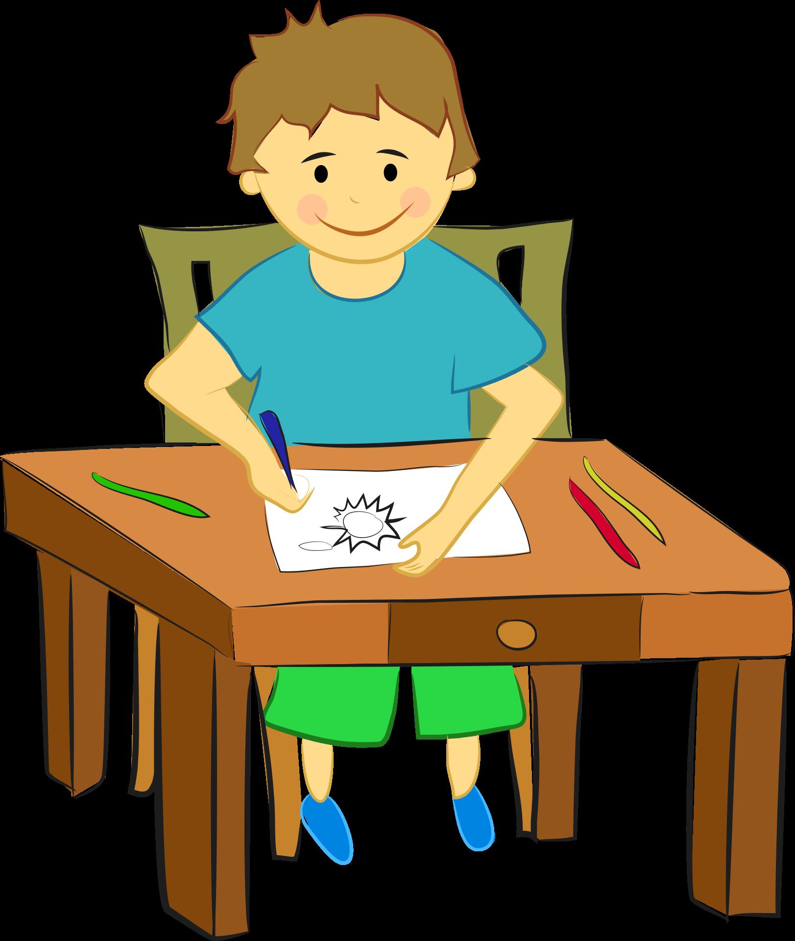 Картинки мальчика который сидит за партой