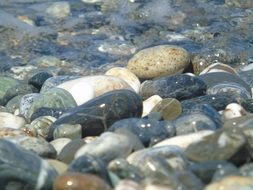 pebbles stones in the water
