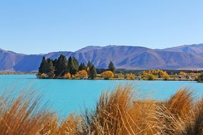 turquoise reservoir lake water