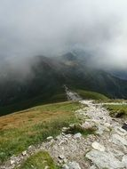 mountain touristic path in the high tatras
