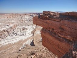cliff in Atacama Desert, Chile