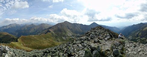 Tatry Mountains amazing top landscape