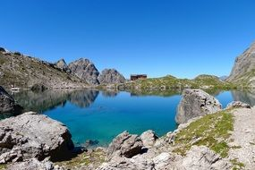 lake in the mountains of east tyrol