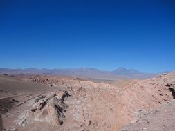 panoramic view of the atacama desert in south america