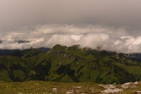panoramic view of alpine landscape in austria