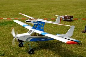 model aircraft on the field