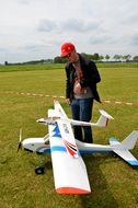two plane models on the field