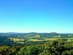 panoramic view of the scenic landscape of czech switzerland