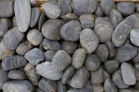 gray pebbles on a beach in Australia