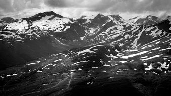 Black And White Mountain picture