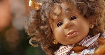 doll with curly hair
