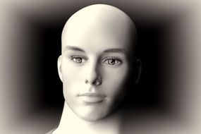 Doll Face Head Display Dummy