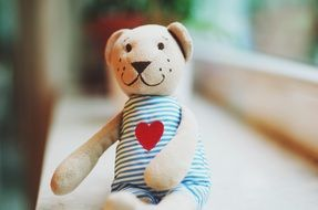 children's soft toy as a symbol of love