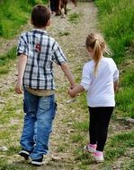 Children Hand In Hand