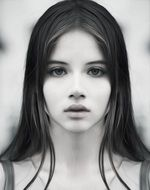 Beautiful young long haired Girl, head Portrait