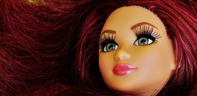 pretty doll face with long lashes