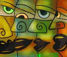 Group Faces drawing