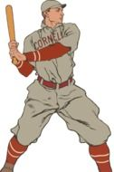 vintage baseball player in the picture