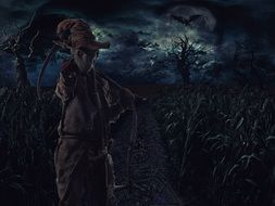 straw man in a mystical night