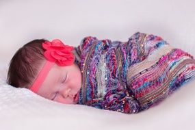 Newborn Girl Baby Sleeping