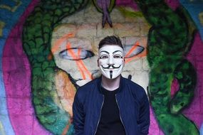 Anonymous Graffiti Mask