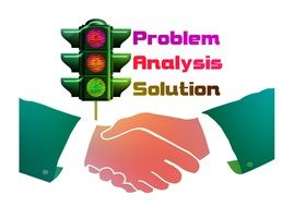 drawing of shaking hands after problem solution
