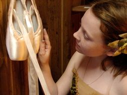 Ballet Pointe Shoes Ballerina
