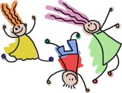 Drawing of children clipart