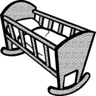 drawing of baby\'s cradle